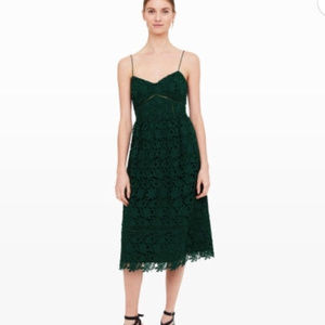 Club Monaco Bolari Lace Dress- Green Size 8